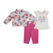 Nanette Baby 3-pc. Jacket, Tee and Pants Set – Girls 2t-4t