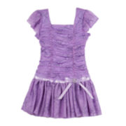 by&by Girl Flutter-Sleeve Tutu Dress - Girls 4-6x