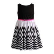 Youngland® Sleeveless Chevron Dress – Girls 4-6x