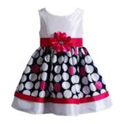 Youngland® Sleeveless Polka Dot Dress – Girls 4-6x