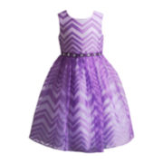 Youngland® Sleeveless Chevron Dress – Girls 4-6x