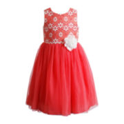 Youngland® Sleeveless Ballerina Dress – Girls 4-6x