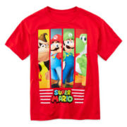 Super Mario Short-Sleeve Graphic Knit Tee – Boys 6-18
