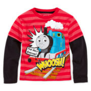 Thomas the Train Long-Sleeve Graphic Knit Tee – Boys 2t-5t