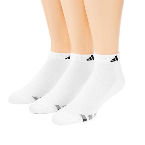 adidas® 3-pk. Athletic Cushioned Low-Cut Socks - Big & Tall