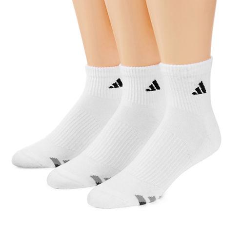 adidas® 3-pk. Athletic Cushioned Quarter Socks