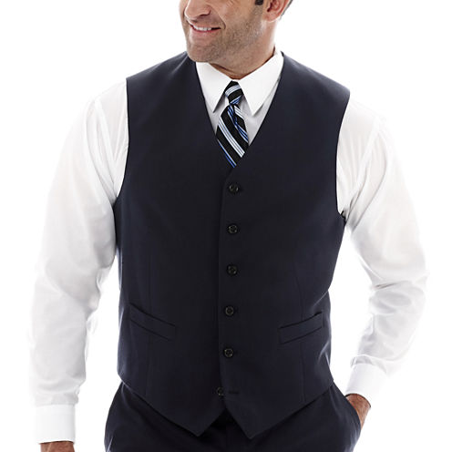 Stafford® Super 100 Royal Navy Suit Vest–Big & Tall