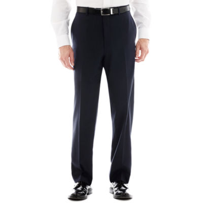 Stafford® Super 100 Royal Navy Flat-Front Suit Pants