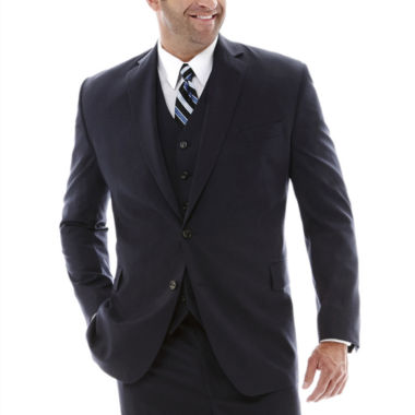 jcpenney.com | Stafford® Super 100 Royal Navy Suit Jacket–Big & Tall