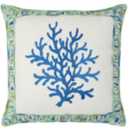 Waverly® Marine Life Embroidered Square Decorative Pillow