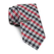 JF J. Ferrar® Blurred Gingham Tie and Tie Bar Set - Slim