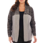 Worthington® Long-Sleeve Flyaway Cardigan Sweater - Plus