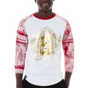 Switch® Foil Dollar Sign Raglan Baseball Shirt
