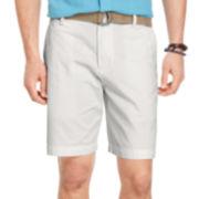 IZOD® Belted Twill Shorts