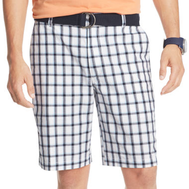 jcpenney.com | IZOD® Belted Plaid Shorts