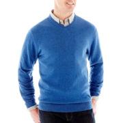 St. John's Bay® Long-Sleeve Fine-Gauge Sweater