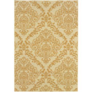 Damask Indoor/Outdoor Rectangular Rug