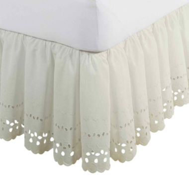 "jcpenney.com | Fresh Ideas 18"" Eyelet Bedskirt"