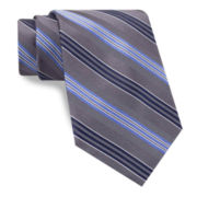 Stafford® Mike Stripe Tie - Extra Long