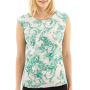 Worthington® Cap-Sleeve High-Low Top - Tall