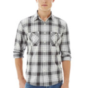 Arizona Long-Sleeve Plaid Poplin Shirt