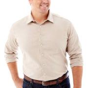 Claiborne® Long-Sleeve Linen-Blend Shirt–Big & Tall