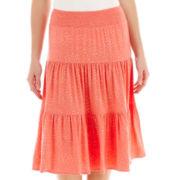 St. John's Bay® Short Tiered Knit Skirt