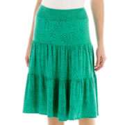St. John's Bay® Short Tiered Knit Skirt
