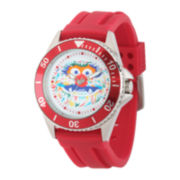 Disney Collection Mens Muppets Animal Red Rubber Strap Watch