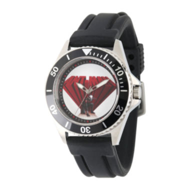jcpenney.com | Marvel® Mens Ant-Man Black Rubber Strap Watch