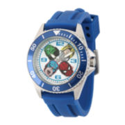 Marvel® Mens Honor Blue Rubber Strap Watch