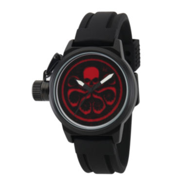 jcpenney.com | Marvel® Mens Crown Black Rubber Strap Watch