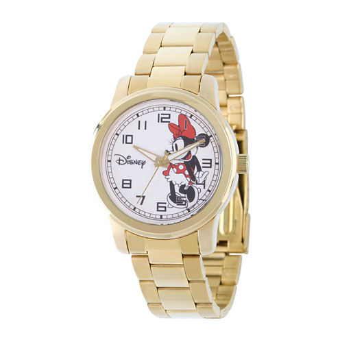 Disney Womens Minnie Mouse Stainless Steel Bracelet Watch
