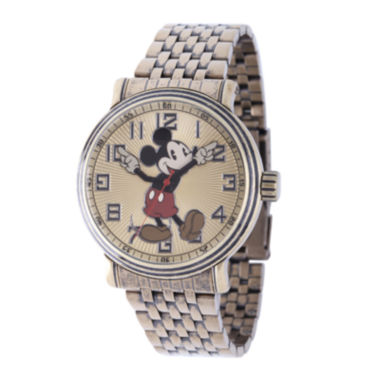 jcpenney.com | Disney Mens Mickey Mouse Stainless Steel Bracelet Watch