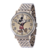Disney Mens Mickey Mouse Stainless Steel Bracelet Watch