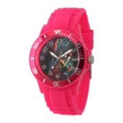 Marvel® Womens Pink Strap Spider-Man Sport Watch