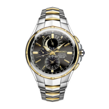 jcpenney.com | Seiko® Coutura Mens Two-Tone Stainless Steel Solar Perpetual Calendar Chronograph Sport Watch SSC376