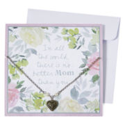Messages from the Heart® by Sandra Magsamen® Mixed Metal Heart Pendant Necklace