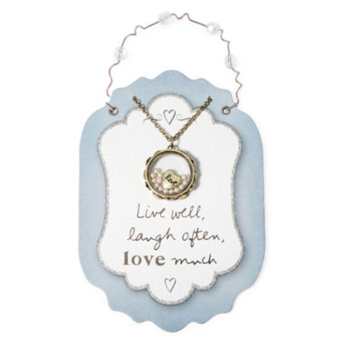 jcpenney.com | Messages from the Heart® by Sandra Magsamen® Love Disc Pendant Necklace