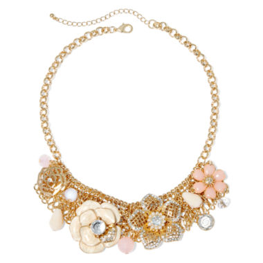 jcpenney.com | Mixit™ Pink Flower Chain Necklace