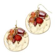 Aris by Treska Large Disc with Bead Cluster Earrings