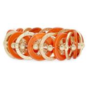 Mixit™ Orange Shell Stretch Bracelet