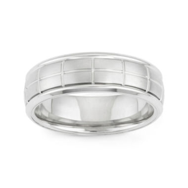 jcpenney.com | Mens Etched Stainless Steel Band Ring