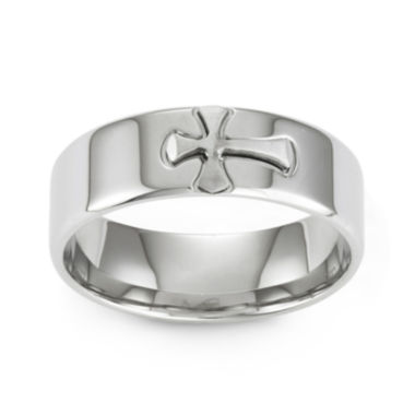 jcpenney.com | Stainless Steel Cross Band Ring