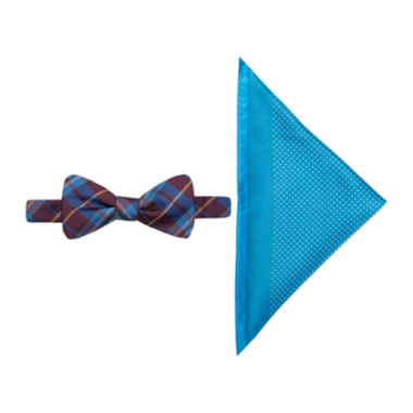 jcpenney.com | JF J. Ferrar® Charleston Tartan Pre-Tied Bow Tie & Pocket Square Set