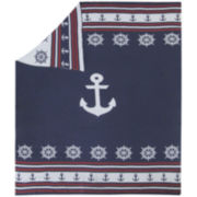 Knitted Cotton Anchors Throw