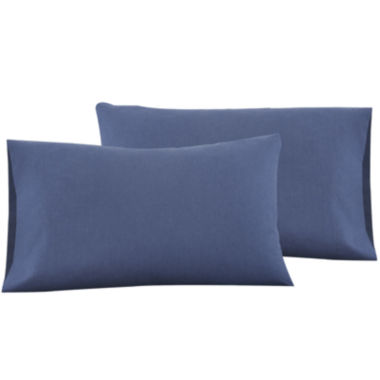 jcpenney.com | IZOD® Navy Cross-Dyed Set of 2 Pillowcases