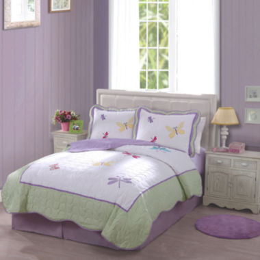jcpenney.com | My World Dragonfly Butterfly Quilt Set