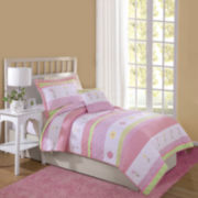 Laura Hart Tara Stripe 3-pc. Quilt Set