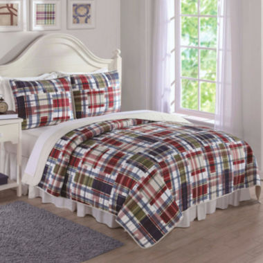 jcpenney.com | My World Navy Preppy Plaid 3-pc Quilt Set